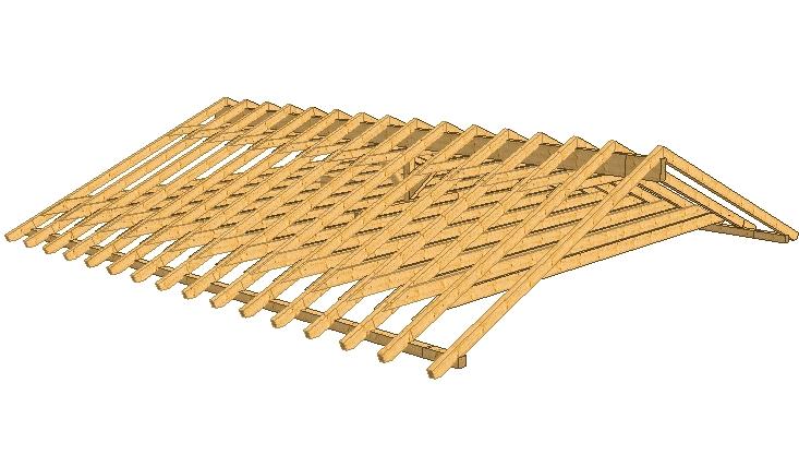 Satteldach mit Zangendecke