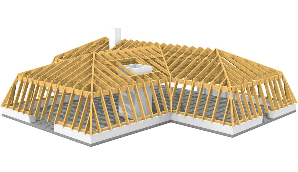 Mansardendachkonstruktion